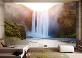 Living Room Wallpaper Scenery Beibehang Wallpaper Photo Decorative Wallpaper Non Woven Waterfall