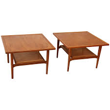 Coffee Table With Nesting Stools - midcentury drexel declaration coffee table with nesting stool