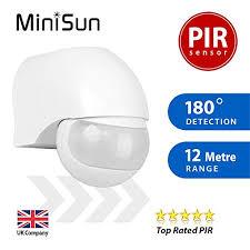 ip44 outdoor pir 180 degree security motion sensor detector