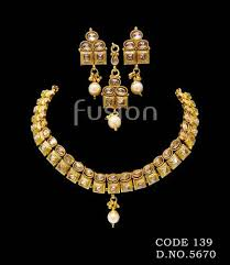 gold antique necklace sets images Antique necklace set traditional choker necklace set exporter jpg