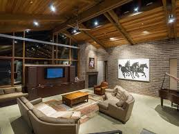 Craftsman Ceiling Fan by Craftsman Living Room With Interior Brick U0026 Exposed Brick Wall In