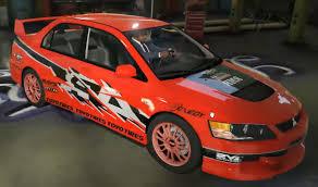 mitsubishi evo rally car mitsubishi lancer evo tokyo drift paintjob gta5 mods com