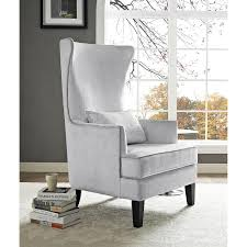 Silver Accent Chair Silver Wingback Chair