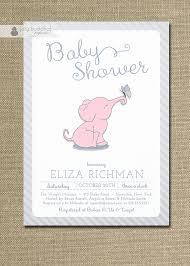 pink elephant baby shower invitation butterfly boy pink