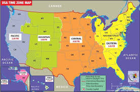 usa map with time zones and cities us map time zones with cities usa time zone map with states cities