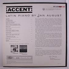 jan august accent lp slight small corner bend stamp on back
