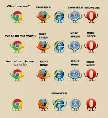 Who Are We Browsers Meme - browsers protest internet explorer know your meme