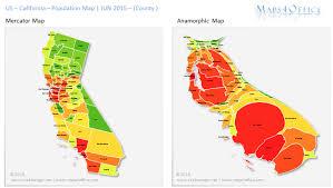 california map population density california population map map