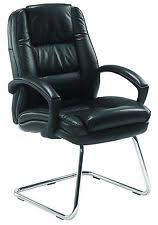 Hippo Chair Office Hippo Visitor Brown Premium Grade Real Leather Cantilever