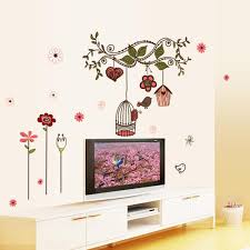 hot sale diy flowers cartoon bird cage vine wall sticke stickers see larger image