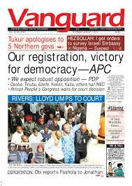 our registration victory for democracy u2014apc by vanguard media