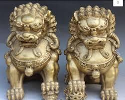 fu dog statues zhmui88002842398 14 bronze foo fu dog guardion door gate
