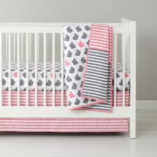 i finally found our crib bedding pink and gray bunny theme