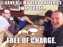 Battery Meme - battery recycling not meme guy