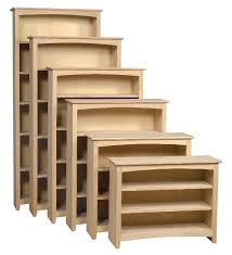 Unfinished Bookcases With Doors Custom All Wood Unfinished Wood Furniture Wooden Bookcases Solid