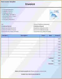 free sample invoice 3 free invoice template word printable receipt
