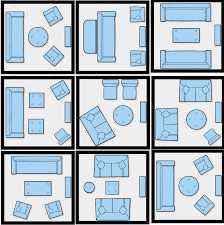 Apartment Layout by Rosen Design Living Room Seating Arrangements Furniture Layout