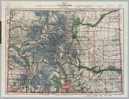 Colorado Elevation Map by Colorado David Rumsey Historical Map Collection