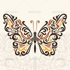 abstract butterfly vector program butterfly and fonts