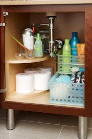 kitchen sink cabinet storage ideas 19 clever ways to organize bathroom cabinets better homes