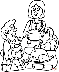 turkey dinner coloring free printable coloring pages