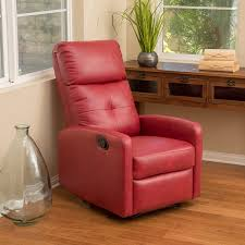 amazon com teyana red leather recliner club chair kitchen u0026 dining