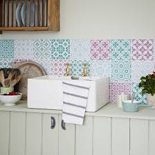 pastel kitchen ideas kitchen with pastel coloured patchwork tiles decorating with