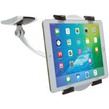 cta ipad tablet wall under cabinet and desk mount with 2 mounting