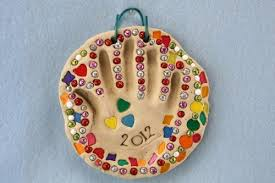 how to make clay handprint