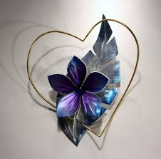 Wall Art Designs Metal Wall Sculpture Metal Wall Art Heart With Flower Love Art