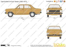 opel kadett 1972 the blueprints com vector drawing opel kadett b 4 door sedan