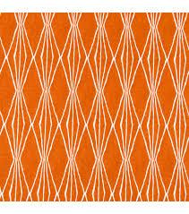 home decor print fabric robert allen handcut shapes orange