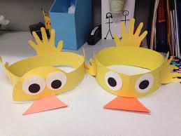 duck hat craft preschool story time crafts pinterest