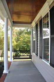 cherry tongue and groove porch ceiling southern living blue haint