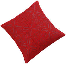 wholesale pure cotton red cushion cover in bulk 16x16 u201d hand