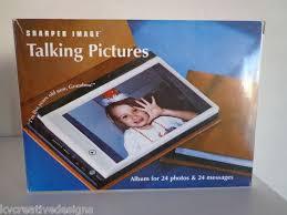 Talking Photo Album Sharper Image Talking Pictures Album For 24 4