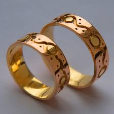 Native American Wedding Rings by Native American Ojibwe Wedding Rings Dancing Suns Fisher Star