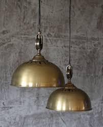 Antike Schlafzimmer Lampen Hänge Lampe ø26 Cm Alte Industrielampe Messing Loftlampe Fabrik