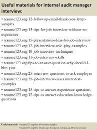 Auditor Sample Resume by Top 8 Internal Audit Manager Resume Samples