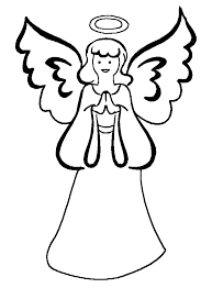 snow angel 16 black and white christmas coloring and craft pages