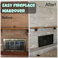 how to whitewash a brick fireplace life on shady lane