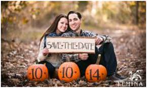 save the date ideas fall save the date ideas for your engagement shoot