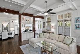 Kitchen And Living Room Floor Plans Beams Separating Kitchen And Family Room Open Floor Plan But