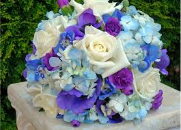 wedding flowers blue and white blue and white wedding bouquets bb0023a blue purple and white