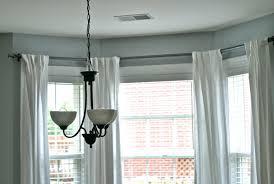 bay window curtain rod ceiling mount decoration