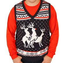 sweater vests mens reindeer sweater vest in navy small at amazon s