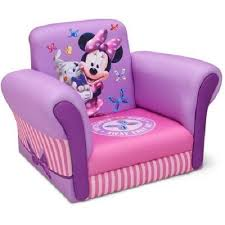 Minnie Mouse Bowtique Vanity Table Kids Upholstered Chair Minnie Mouse Girls Pink Purple Furniture