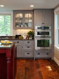 grey kitchen cabinets wood floor pin by carrie forrester on colorful kitchens stained