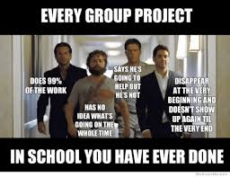 Learning Meme - every group project you have ever done hangover meme