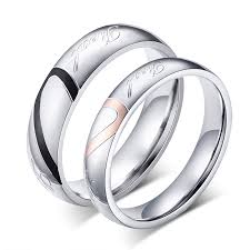 promise ring for men fashion heart ring his and promise rings sets stainless steel